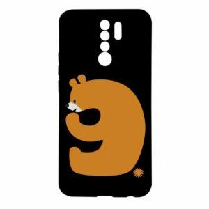 Etui na Xiaomi Redmi 9 Rysunek niedźwiedź przez 9 lat