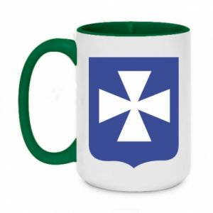 Two-toned mug 450ml Rzeszow coat of arms