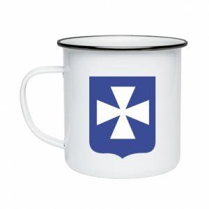 Enameled mug Rzeszow coat of arms