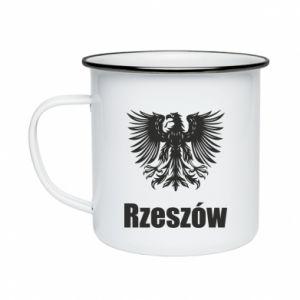Enameled mug Rzeszow