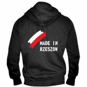 Męska bluza z kapturem na zamek Made in Rzeszow - PrintSalon