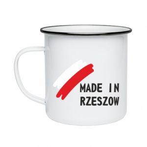 Enameled mug Made in Rzeszow