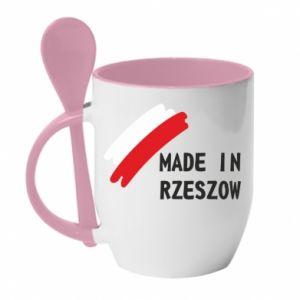 Kubek z ceramiczną łyżeczką Made in Rzeszow - PrintSalon