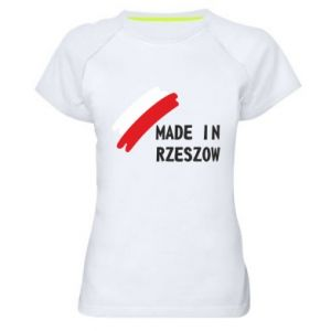 Damska koszulka sportowa Made in Rzeszow - PrintSalon