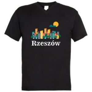 Men's V-neck t-shirt Rzeszow city