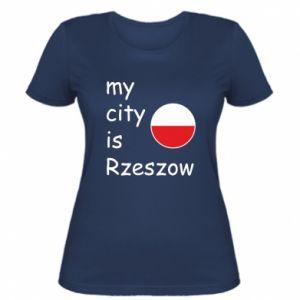 Damska koszulka My city is Rzeszow