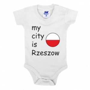 Baby bodysuit My city is Rzeszow