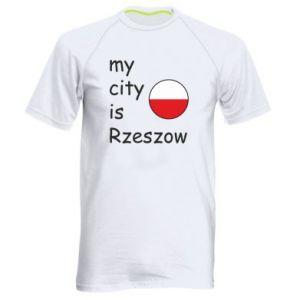 Męska koszulka sportowa My city is Rzeszow