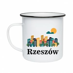 Enameled mug Rzeszow city