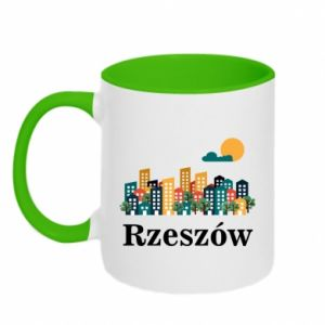 Two-toned mug Rzeszow city