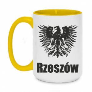 Two-toned mug 450ml Rzeszow