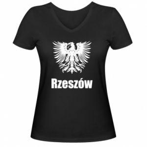 Damska koszulka V-neck Rzeszów