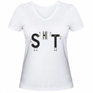 Damska koszulka V-neck S hi T