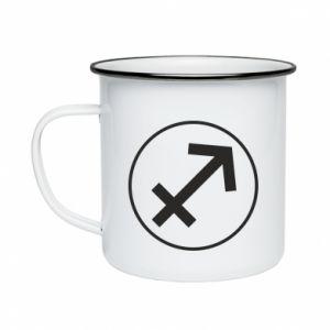 Enameled mug Sagittarius