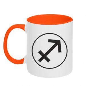 Two-toned mug Sagittarius