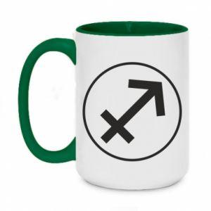 Two-toned mug 450ml Sagittarius