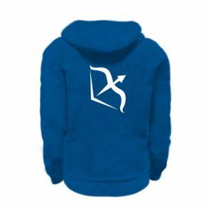 Kid's zipped hoodie % print% Sagittarius