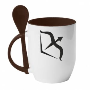 Kubek z ceramiczną łyżeczką Sagittarius - PrintSalon