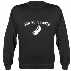 Bluza (raglan) Sailing to world