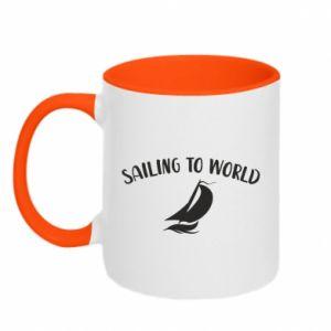 Kubek dwukolorowy Sailing to world