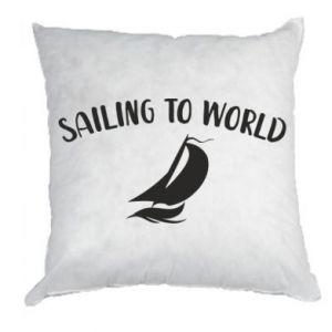 Poduszka Sailing to world