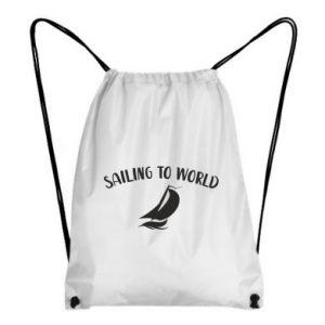 Plecak-worek Sailing to world