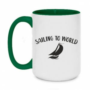 Kubek dwukolorowy 450ml Sailing to world