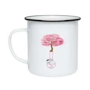 Enameled mug Sakura