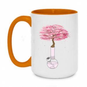 Two-toned mug 450ml Sakura