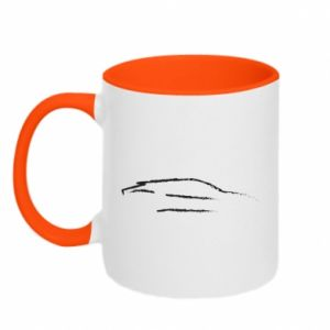 Two-toned mug Race car