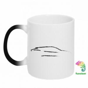 Kubek-kameleon Samochód wyścigowy