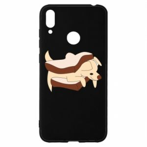 Etui na Huawei Y7 2019 Sandwich dog