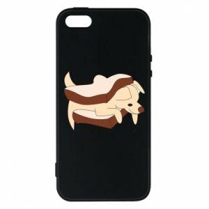Etui na iPhone 5/5S/SE Sandwich dog