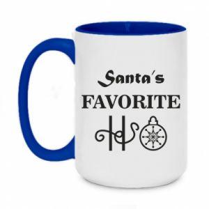Kubek dwukolorowy 450ml Santa's favorite HO