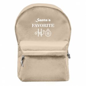 Plecak z przednią kieszenią Santa's favorite HO