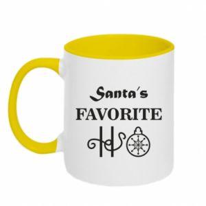 Two-toned mug Santa's favorite HO