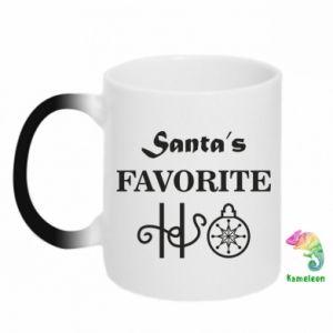 Kubek-magiczny Santa's favorite HO