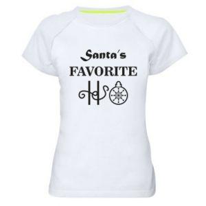 Damska koszulka sportowa Santa's favorite HO