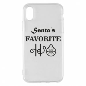 Phone case for iPhone X/Xs Santa's favorite HO