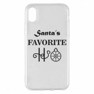 Etui na iPhone X/Xs Santa's favorite HO