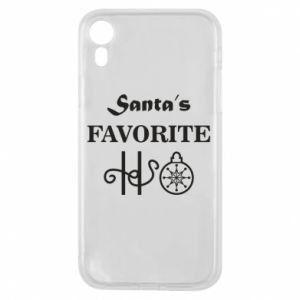 Phone case for iPhone XR Santa's favorite HO