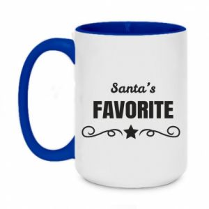 Two-toned mug 450ml Santa's favorite