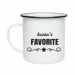 Enameled mug Santa's favorite