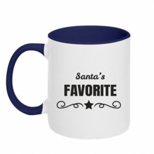 Two-toned mug Santa's favorite