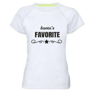 Damska koszulka sportowa Santa's favorite