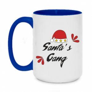 Two-toned mug 450ml Santa's gang
