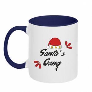 Two-toned mug Santa's gang