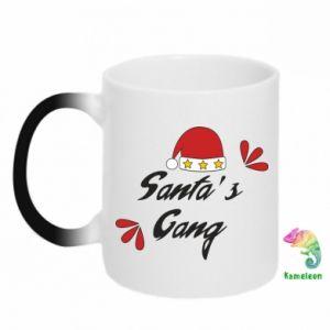 Kubek-kameleon Santa's gang