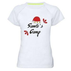 Damska koszulka sportowa Santa's gang