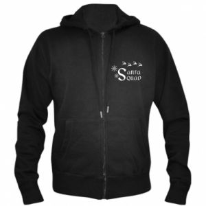 Men's zip up hoodie Santa squad